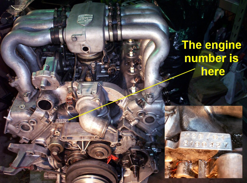 porsche 996 engine number location  porsche  get free
